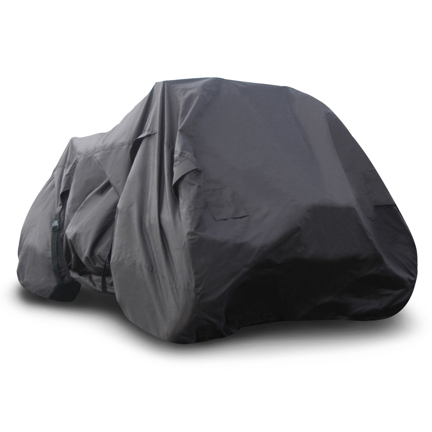 """Budge Sportsman Extra Large ATV Cover Trailerable Fits ATVs up to 7' 3"""" Long, ATV-15 (Black, Waterproof)"""