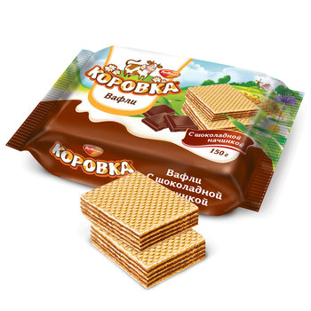 KOROVKA - Chocolate Wafer Cookies from Russia