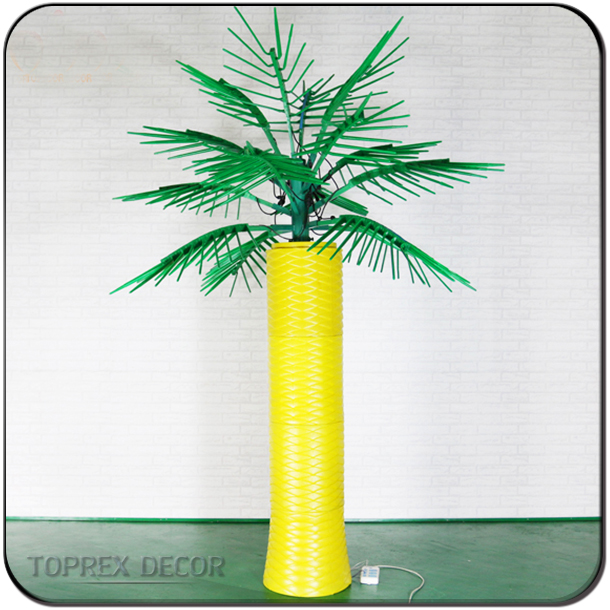 Hot sale LED outdoor artificial lighted palm trees