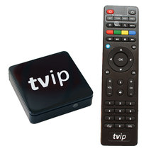 2019 más profesional TVIP S805 1G8G Linux android dual <span class=keywords><strong>OS</strong></span> tv box con ranura para tarjeta sim hecho en China Quad core TV set top box wifi