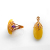 Silver 925 rings with amber and gilding