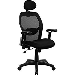 """Desk Chair in Black Finish, Chair, Office Chair, Office Furniture, Home and Office Furniture, Executive Office Swivel Chair, Home and Office Chair, Bundle with Expert Guide """"Quality in Our Life"""""""
