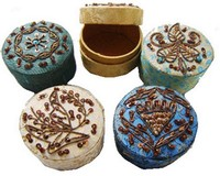 Jewelry Box Decorated Hand Embellishes Box Set of 3 pill boxes