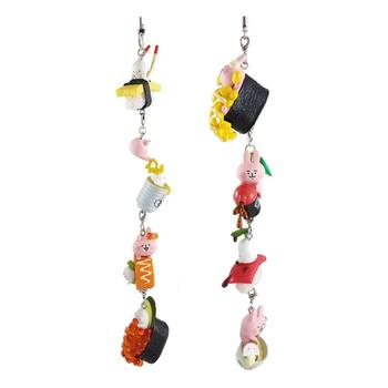 cute sushi mini food keychain hanging accessory (1 set of 8 pieces)