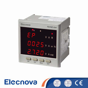 PD194Z-9S4 96*96mm 3 phase digital bidirectional kwh meter with modbus