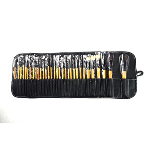 32 pcs black pouch powder blush makeup brush set with Pu lether bag