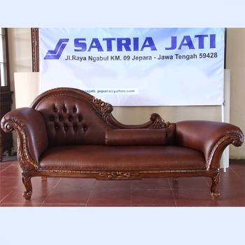 Luxury Living Room Leisure Sofa With Hand Carving Jepara Indonesian Furniture