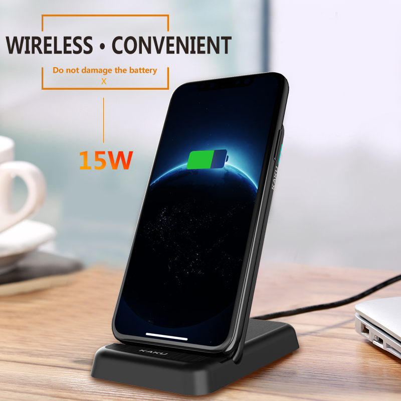 Real 15 Watt smartphone charging station cellphone charge wireless charger with stand