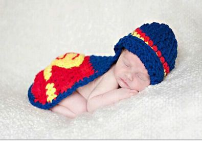Superman New Born Baby Photography Clothes
