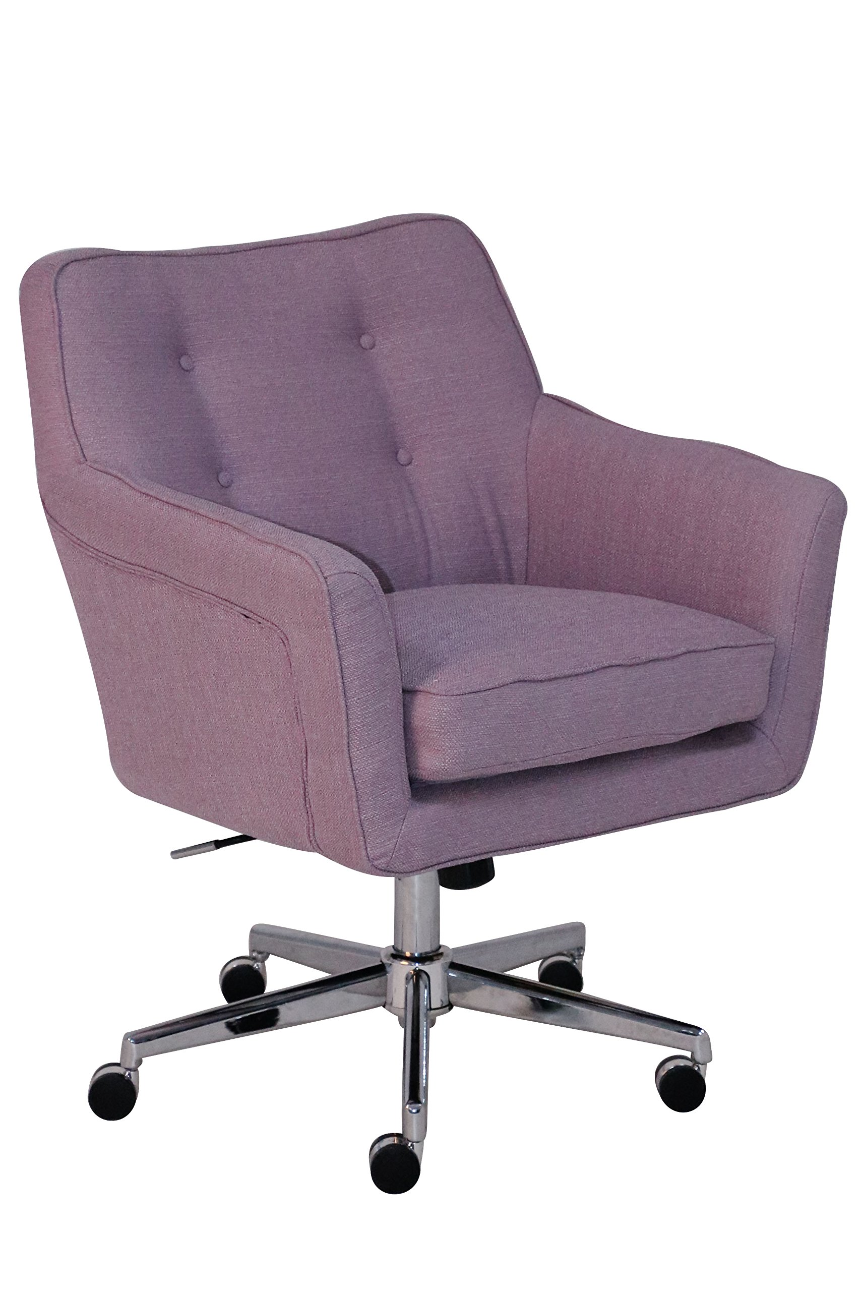 Serta Style Ashland Home Office Chair, Fresh Lilac Twill Fabric