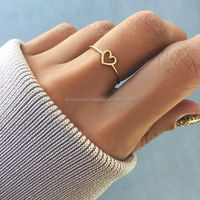 bulk order 14K Yellow Gold Anniversary Wedding Heart Ring Wholesale jewelry