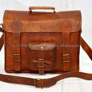 Leather Messenger Bag Goat e23d454cc0b73
