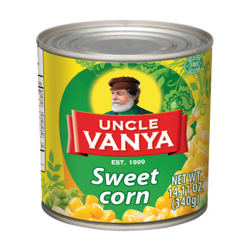 Sweet Corn Russian Canned Beans 100% Original