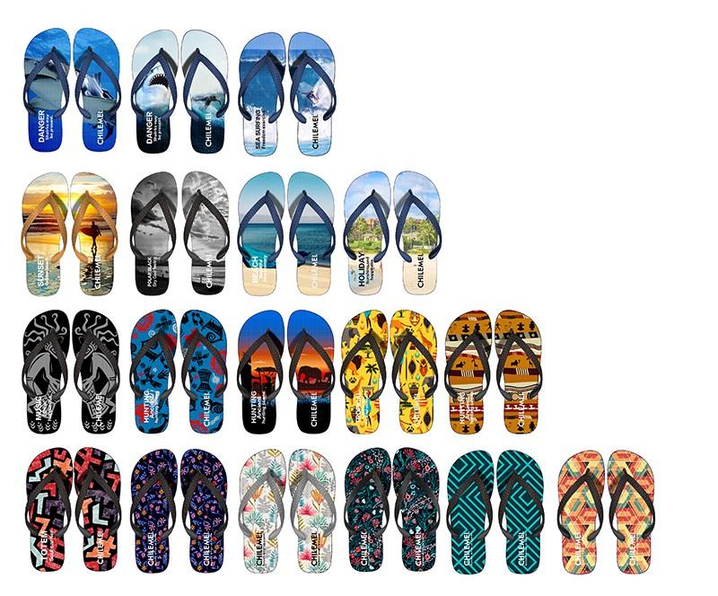 212db7684b197 Kustom Non-slip Nyaman Karet Pe Slim Pria Pantai Sandal Flip Flop ...
