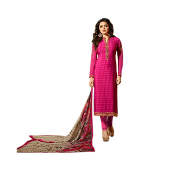 Shop Pink Crepe Churidar Suit/ Online Shopping For Clothing /Wholesale Indian Clothing