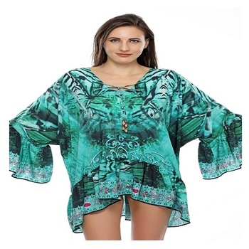 INDIAN LATEST KAFTAN FOR ALL SEASON BEACHWEAR DIGITIALLY PRINT IN NEW DESIGN FOR WOMEN KURTI STYLE