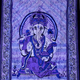 Indian Lord Ganesha Tapestry Throw Decor Bedcover Boho Bedspread Handmade Tapestry Wall Hanging