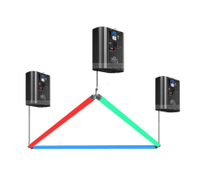 키네틱 Lighting System DMX 조절 식 Led 3D Triangle 관