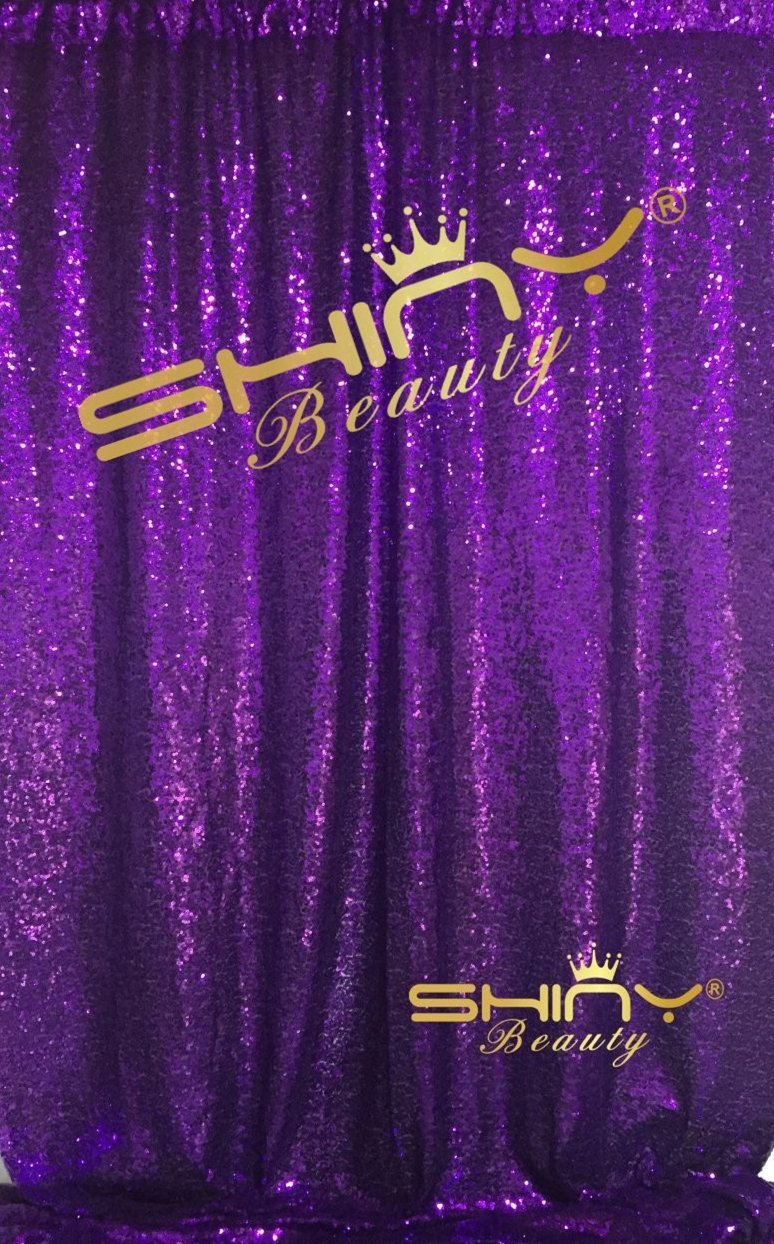 Buy Shinybeauty Sequin Backdrop 4ftx6ft Purple Backdrop