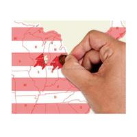 Customzed Scratch USA World Map Travel