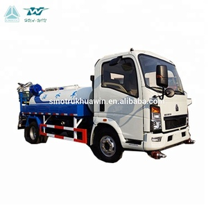 HOWO 5 ton water bowser tank truck with spray tanker truck