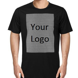 Print your logo 100% Cotton blank high quality fabric O-neck T-shirts / custom logo t-shirt