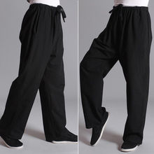 Mannen Tai Chi Broek Gym <span class=keywords><strong>Kung</strong></span> <span class=keywords><strong>Fu</strong></span> Martial Arts Sport Fit Retro Broek Casual Nieuwe