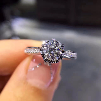 Women Wedding Rings.18k White Gold Au750 Women Wedding Ring Certified H Si 0 683 Carat Round Cut Natural Diamond Jewelry For Female Engagement Buy 18k Diamond Gold