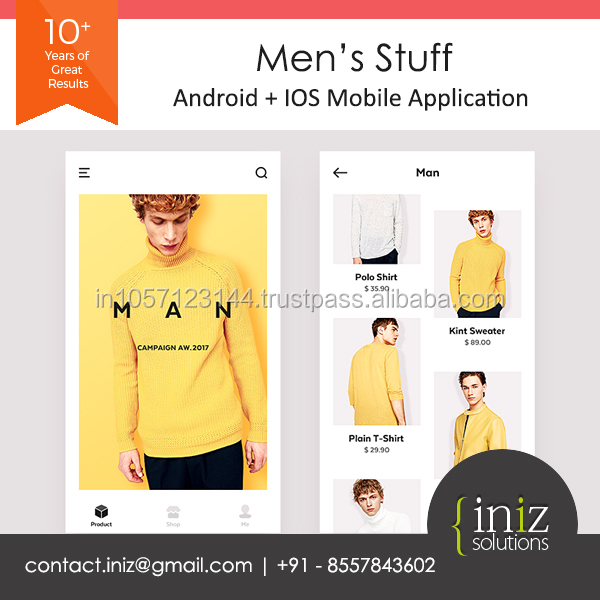 Android App Ios App Website Design And Development Men S Product