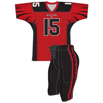 Unisex American football uniform for team, soccer uniforms made in Pakistan