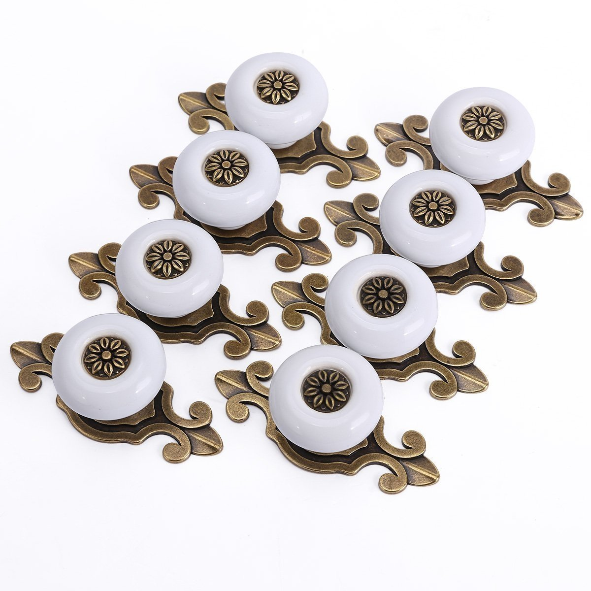 Dresser Knobs, TopRay Drawer Knobs Cabinet Knobs Ceramic Knobs Cupboard Knobs Door Knobs Door Handle Pulls with 8PCS 25MM Screws (Bronze Plate)