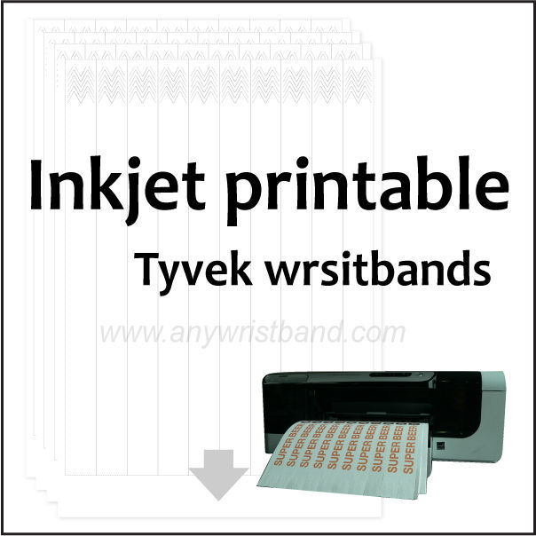 graphic regarding Printable Wristband Sheets called Printable Tyvek Wristbands For Inkjet Printer - Order Printable Wristbands,Paper Wristbands,Wristbands For Inkjet Materials upon