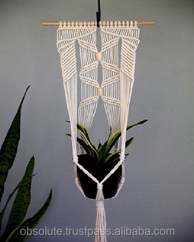 Hand Made Macrame Plant Hangers Decorative Indoor