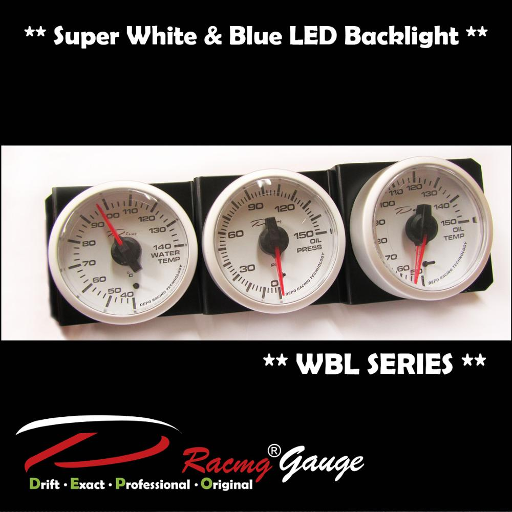 52mm Wbl Blue And White Led Needle Self Calibration Auto Racing Tachometer  Gauge - Buy 52mm Tachometer Gauge,Tachometer Gauge,Tacometros Product on