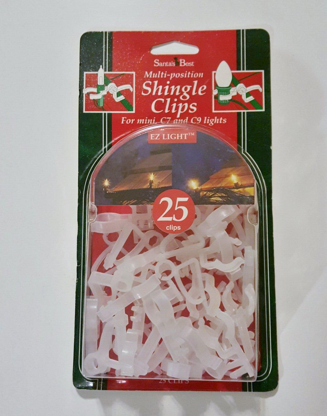get quotations christmas light clips shingle light clips gutter hooks 25 in pkg by santas best