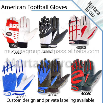 custom logo football gloves