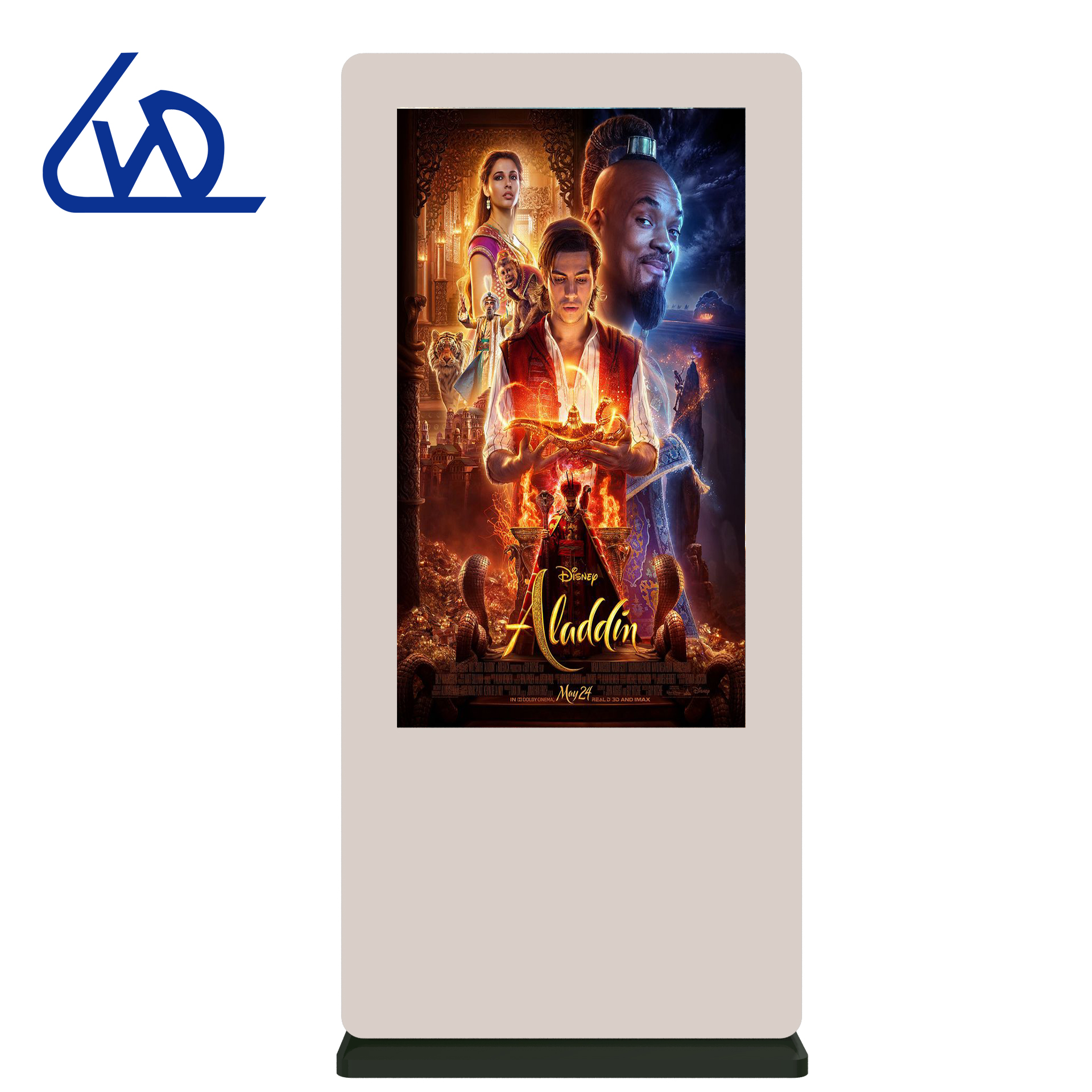 Harga Pabrik Luar Ruangan Ultra Tipis Lantai Berdiri Layar Sentuh LCD LED Display Advertising Pemain Totem Ip65 Digital Signage Kios
