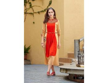 860d49d45ab Fashion Style Kurta Kurti Women's Top Tunic Tops Party Wear Heavy Georgette  Fancy Tunics