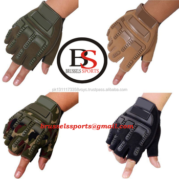 Tactical Mezza Finger Gloves Outdoor Esercito Militare Sport Escursioni di Pesca Guanti