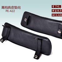High quality real leather guitar shoulder pad cowhide release comfortable hand made guitar strap accessory PE-A22