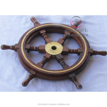 Wooden & Brass Ships Wheel/Nautical Ship Wheel/Home Decor