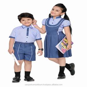 100% Cotton children wear School Uniform