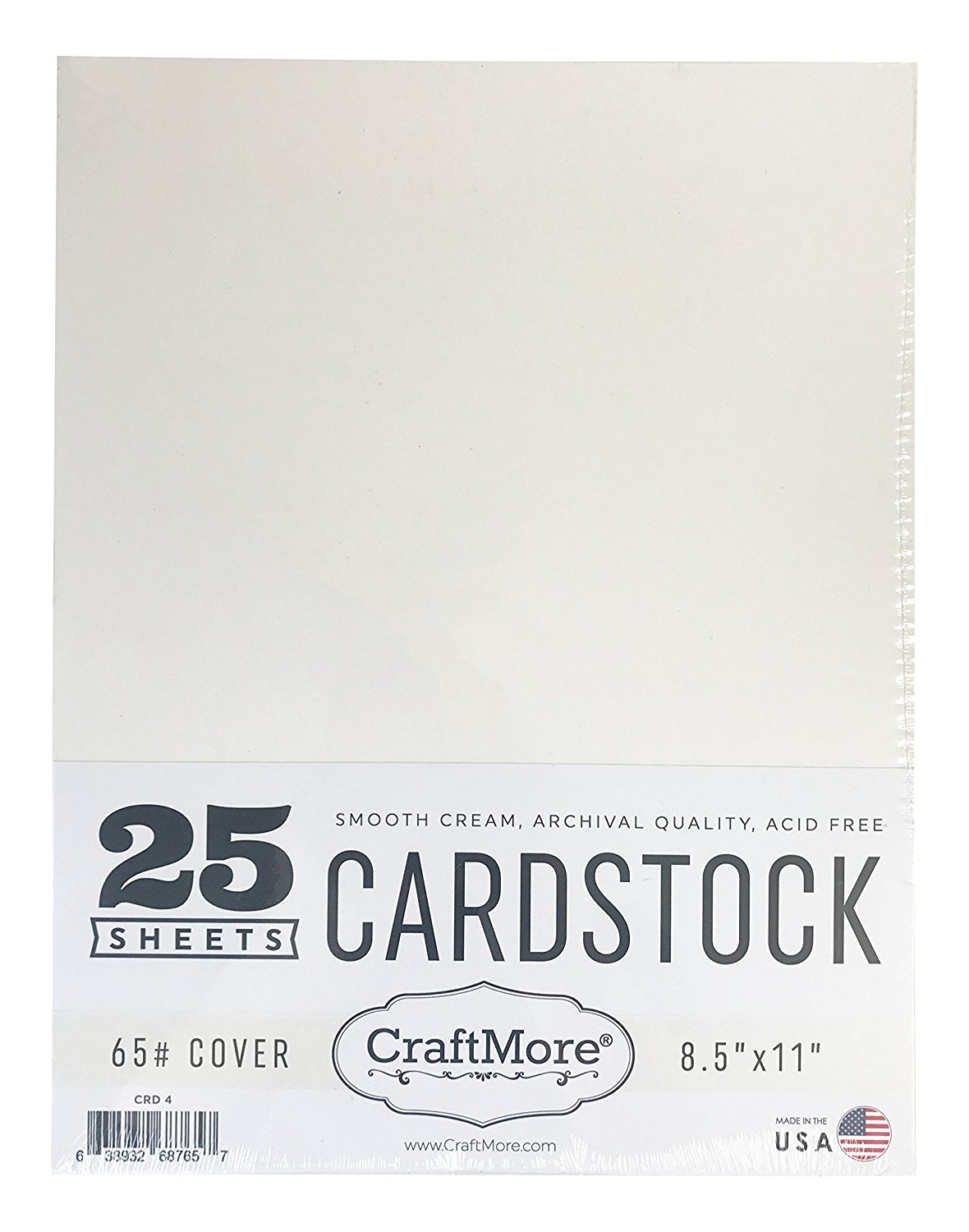 12x12 Black CraftMore Cardstock Paper Value Pack Made in USA 25 Sheets