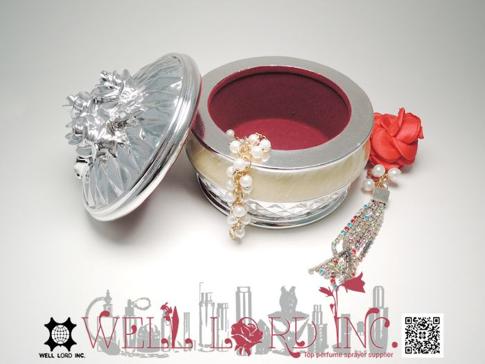 Elegant silver new arrival deluxe accessory jewelry storage gift box