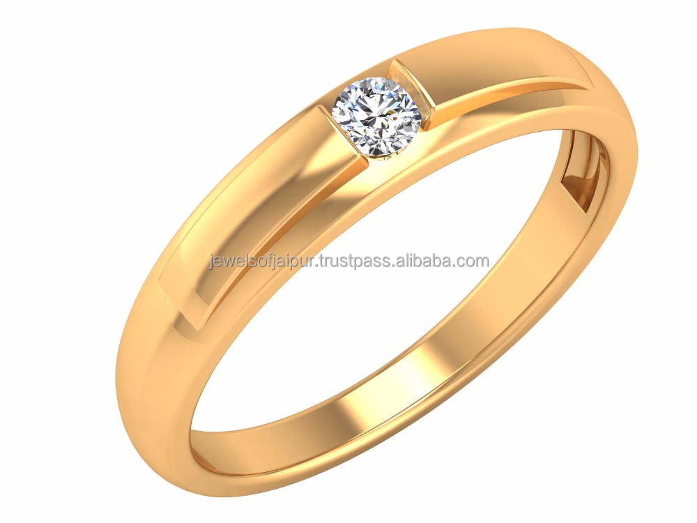 Unique And Lustrous Natural Round Certified Solitaire Diamond 14k Yellow Gold For Engagement Ring