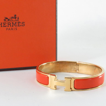 Used Hermes H Mark Bracelet Pre Owned Click Clack Bangles Whole