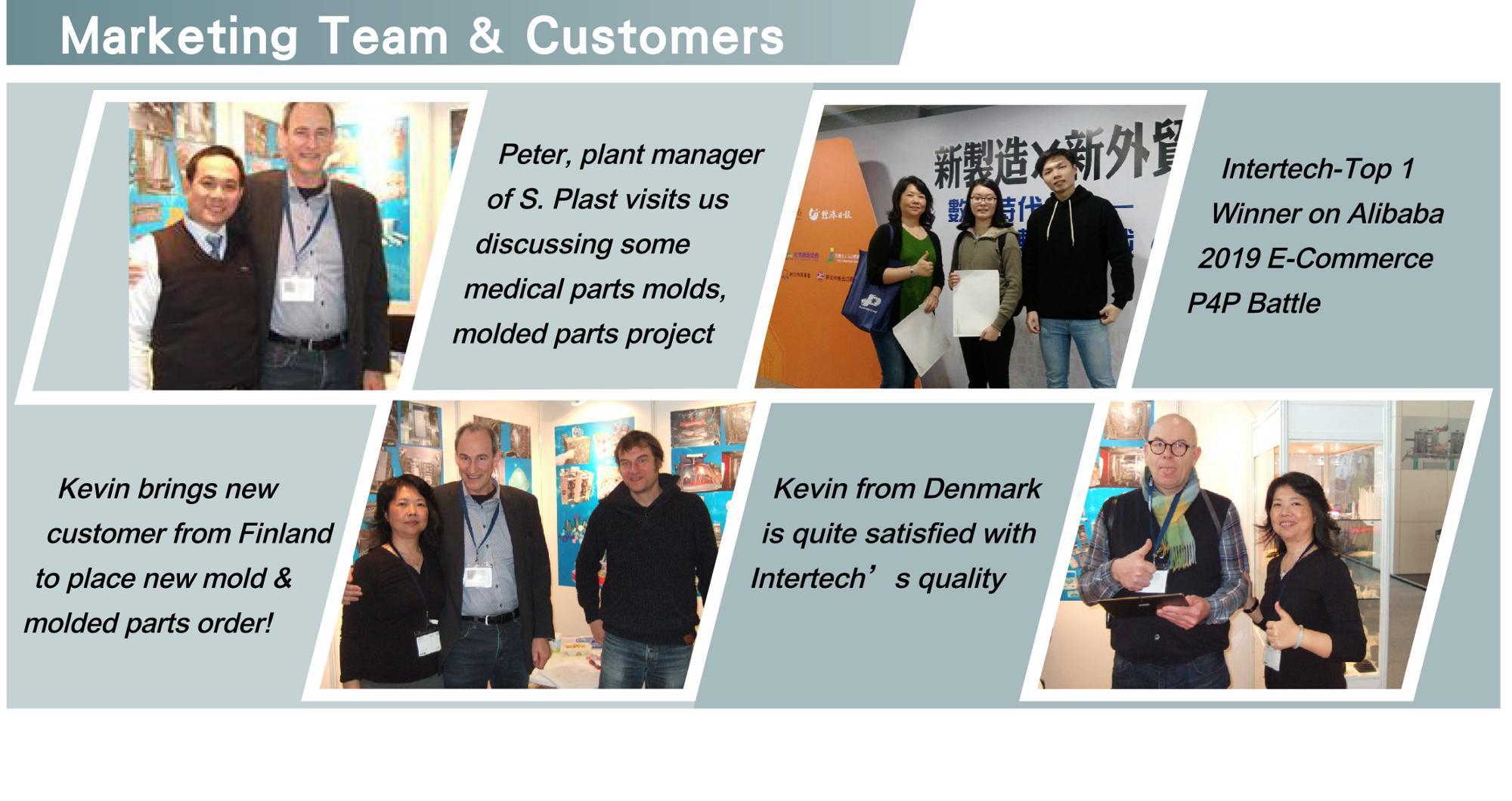 marketing team & customers