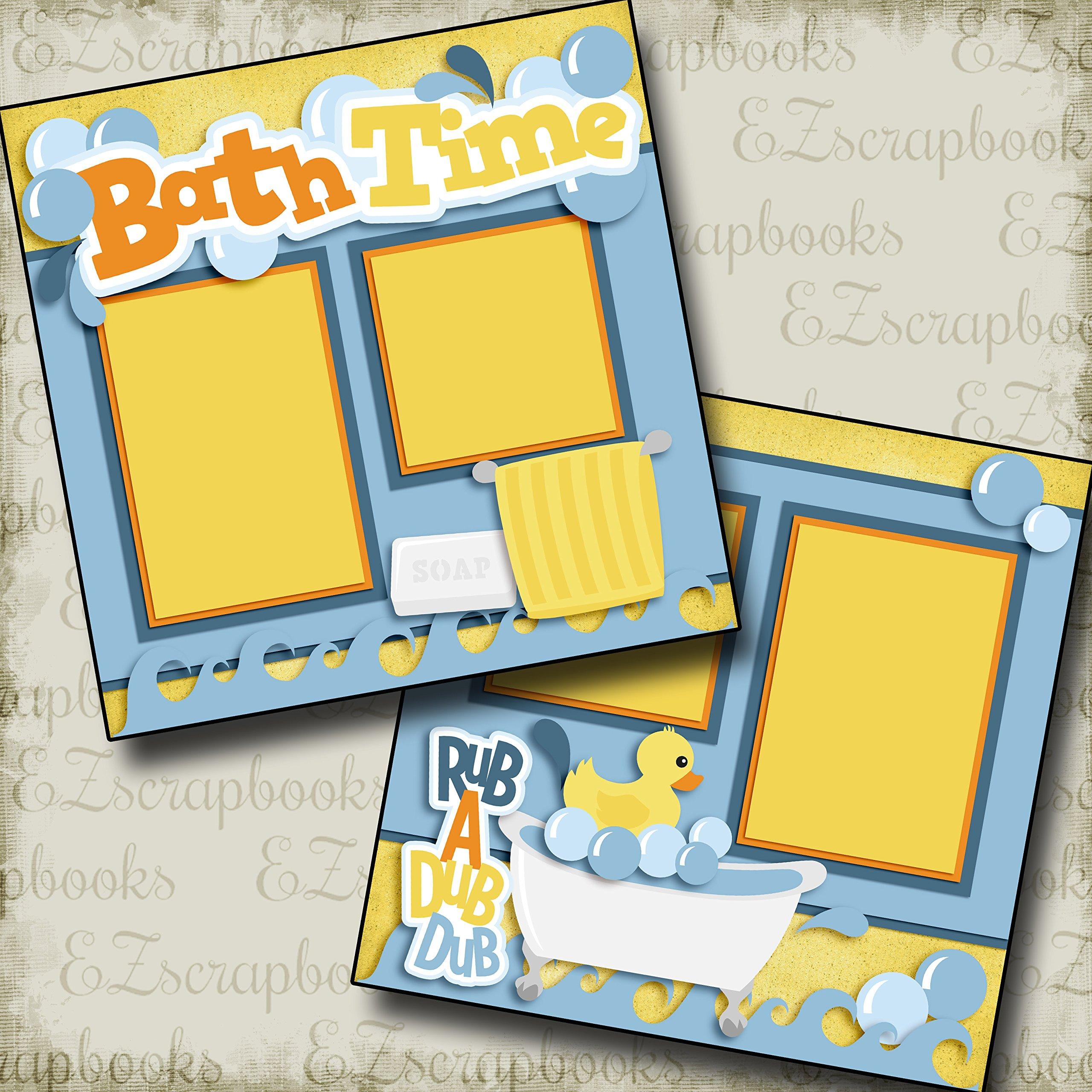 BATHTIME - Premade Scrapbook Pages - EZ Layout 2484