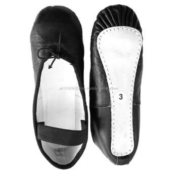 Black Color Full Sole Soft Leather
