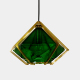 Glazed tile colorful modern lamp crystal brass chandeliers pendant lights for home dinning room